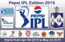 PEPSI IPL8 2015 Match Schedule